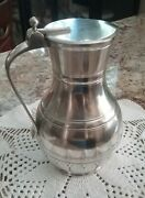 Handcrafted Pewter By John Somers, Brazil Water Wine Pitcher Carafe Hinged Lid