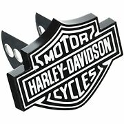 Harley Davidson Bar And Shield Black And White Hitch Plug 2 And 1.25 Receiver Plug