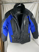 Yamaha Men's Snowmobile Insulated Jacket Blue And Black Men's Size Small Vgc