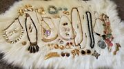 Signed Costume Jewelry Lot Unbranded Lot 14k Fine Gold Chain 10k Ring