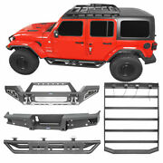 Texture Bumper Running Board Side Step Roof Rack Fit Jeep Gladiator Jt 2020-2021