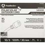 Coleman Cable 100 Ft. 10/3 Cold Weather Extension Cord 1789sw0002 Pack Of 3