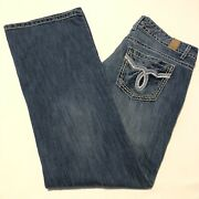 Womenand039s Maurices Jeans Size 12 Low Rise Boot Cut Medium Wash Stretch 32x31