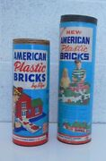 Halsam And Elgo American Bricks 12 And 10 Tubes Incomplete Missing Lid