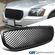 For Dodge 05-07 Magnum 1pc Abs Mesh Black Front Hood Bumper Grill Grille