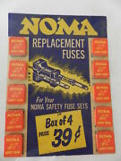 Vintage Advertising Sign /store Display-noma Replacement Fuses- Christmas Lights