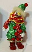 Vtg Wind-up Musical Moving Animated Porcelain Clown Plays Send In The Clownsandrdquo