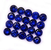 Certified Natural Blue Sapphire 4 Mm Round Cut Loose Faceted Gemstone 1000 P Gf