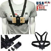 Mobile Phone Chest Mount Clip Action Camera Pov Harness Strap Holder Cell Phone