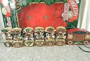 Christmas Holiday Carousel Horses Ornament String Musical Movement Lights