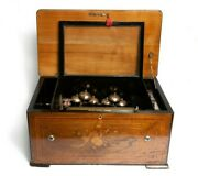 Antique Cylinder Musical Box In Very Good Restored Condition And Working