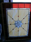 Large Stained Glass Window 47andrdquo X 61andrdquo Local Pickup
