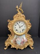 French Bronze And Porcelain Clock 16