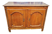 Antique 18th C Country French Provincial Carved Walnut Cabinet Server Sideboard