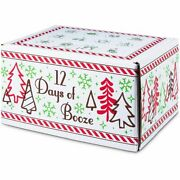 Alcohol Advent Calendar For Adults 12 Days Of Booze 12.9 X 9.6 X 7 In