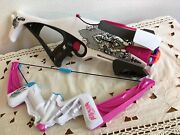 Set Nerf Rebelle Crossbow Gun Pink Black Roses And Bow 6 Ammo Darts Works Great