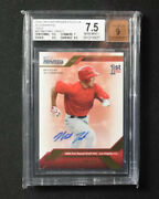 Mike Trout 2009 Tristar Prospects Plus Gold 1/50 Auto Bgs 7.5andnbsp
