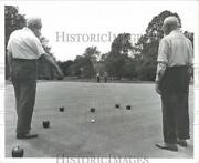 1968 Press Photo Alex Mcarthur And Matthew Fleming Play Bocce At Park In Nj