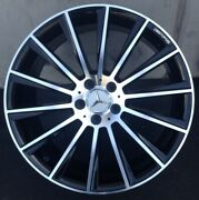 20and039and039 Wheels Fit Mercedes S550 Cls Bentley S63 E350 Black Machine Tires Glc 350