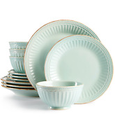 Lenox French Perle Ice Blue 11 Piece Dinner Place Setting G9410 Service For 4