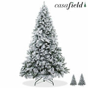 Snow-flocked Pine Realistic Artificial Holiday Christmas Tree With Stand