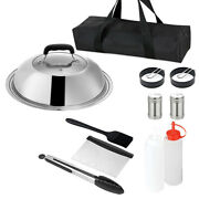 16pcs Barbecue Tool Sets Flat Top Sizzle Professional Indoor Grill Cooking Set