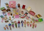 Huge Big Lot Of Fisher Price Loving Family Dollhouse Furniture And Doll Figures