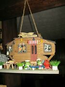 Handmade Vintage Wooden Hanging Doll House Size Surf Shack Bernie Home Away Home