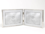 Lawrence Frames Hinged Double 7 X 5 Simply Silver Metal Picture Frame G9441