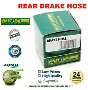 1x Rear Left Brake Hose For Renault Megane Iii Coupe 2.0 Tce 2012-on