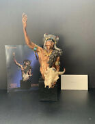 Large Limited Edition Chip Mark Metal And Marble Native American Statue