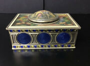 Victorian Style Metal Wind Up Music Box With A Humming Bird