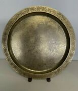 Vintage Studios New York 1747 Large 14 Bronze/gold Charger Plate Tray