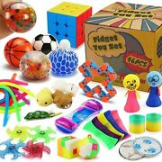 46pack Sensory Fidget Toys Set With Gift Box Stress Relief And Anti-anxiety Pack