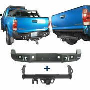 Rear Bumper + Trailer Hitch Receiver Towing 2 For 2005-2015 Toyota Tacoma Truck
