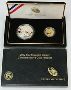 2012 Silver Proof 5 Gold And 1 Silver Star Spangled Banner Commemorates Box Set