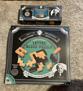 Professor Puzzle The Einstein Stem Puzzles Cube And Letter Block Bundle 8+ Game
