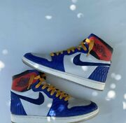 Jordan 1 High Union Storm Blue Handmade With Real Python Skin Open To Offers