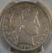 1897-s Barber Half Dollar 50c Pcgs Certified F15 Dipped Or Lightly Cleaned Long