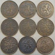 Netherlands 2+1/2 Cents 190304051315161829+41 Mid-better Grade Coins As