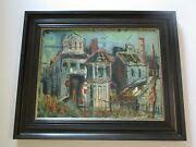 1950and039s Gerald Gleeson Painting American Wpa Style Regionalism Urban Landscape