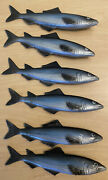 6 New Rubber Soft Fish Leisure Lures Bait 7andrdquo Fishing Tackle Blue Large