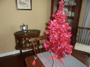 Vintage Artificial Tabletop Red Christmas Tree 24 Needs Straightening Limbs
