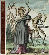 Antique 1816 The Dance Of Death Hans Holbein Hand Colored Plates Danse Macabre