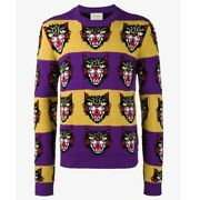 Nwt Unisex Large Angry Cat Sweater Wool Blend Women's Xl Extra Large