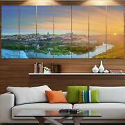 Designart And039hill Over The Tagus River Spainand039 Modern Landscpae Oversized