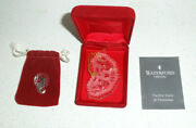 Waterford Ornament 2 Turtle Doves 1985 With Pouch Booklet Twelve Days Vtg