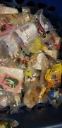 Vintage Mcdonaldand039s Happy Meal Toys And Burger King Toys Mixed Lot Of 285 Sealed