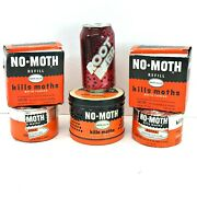 Vtg Reefer-galler No Moth Advertising Hanger Tin Can Insecticide +2 Refill Cakes