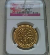2018 Niue 1 Oz. 250 Gold Double Dragon Ngc Ms70 Early Releases